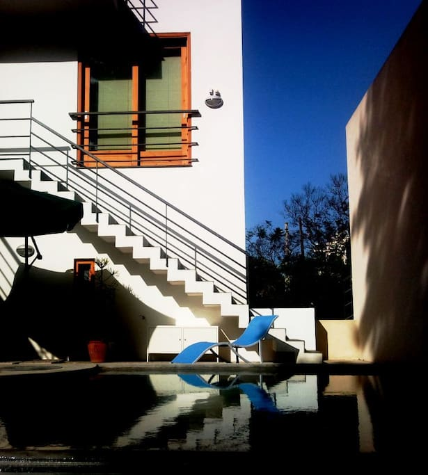Villa Venere and the inner courtyard with swimming pool