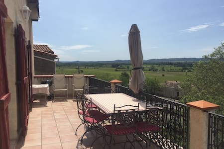 Stunning view,Canal du midi, pool - House
