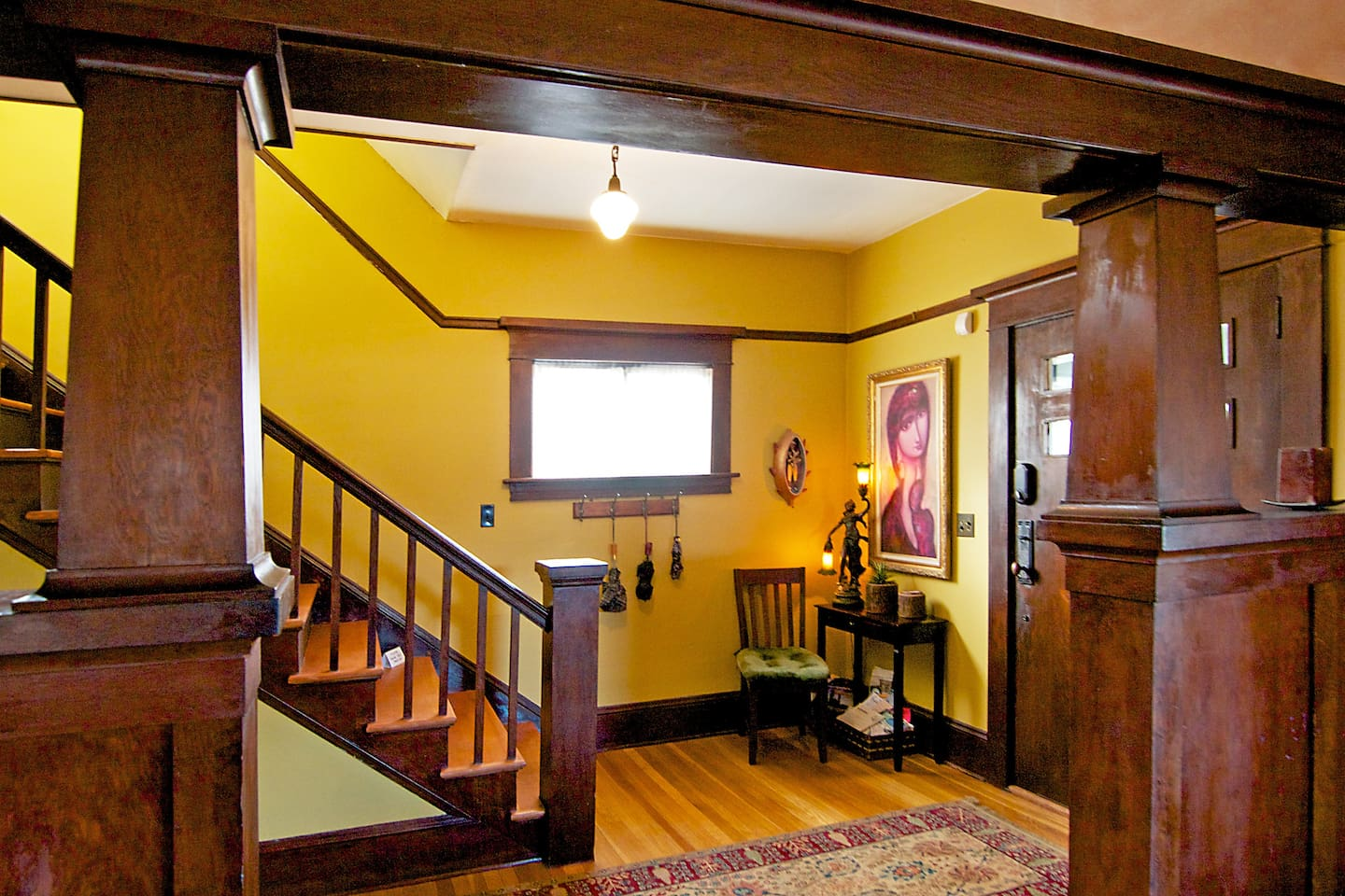 Entry foyer... enter 100 year old charm.