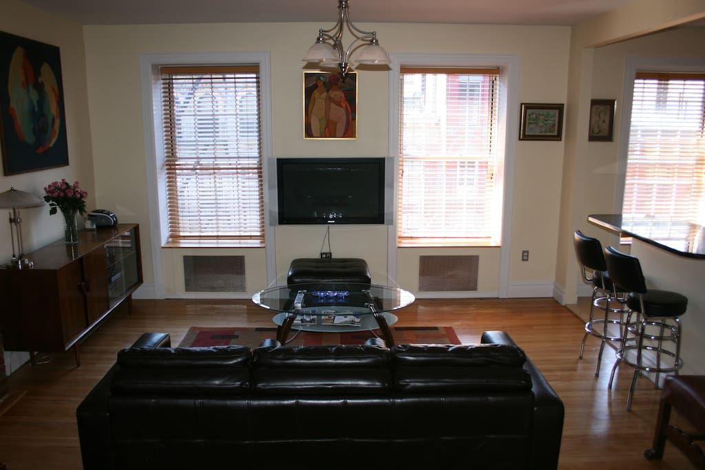 Living Room - coffee table and cabinet