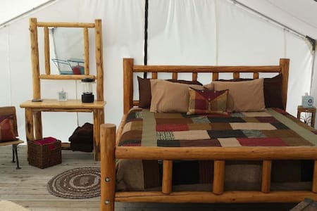 Glamping with a mountain view - Enterprise - Yurt