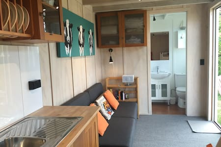 converted shipping container studio - Annat
