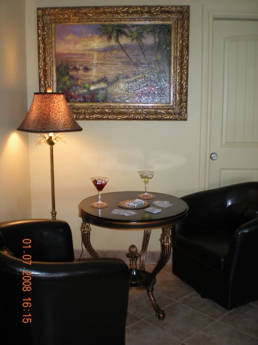 Dining area or card table