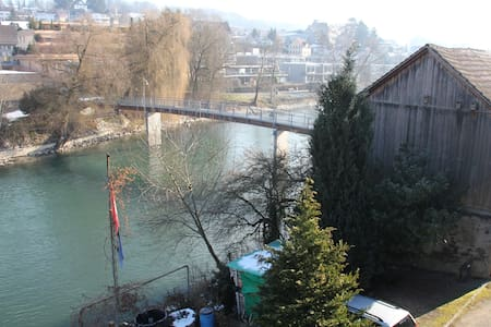 Historic apartment next to the river - Mellingen - Condominium