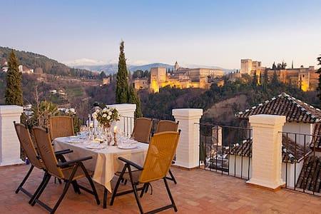 Alhambra Views from Los Moriscos - Granada