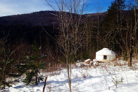 4 Season Lower Yurt Stay on VT Small Farm - Randolph