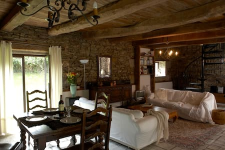 Converted 300 year old Barnhouse in Rural Brittany - Haus