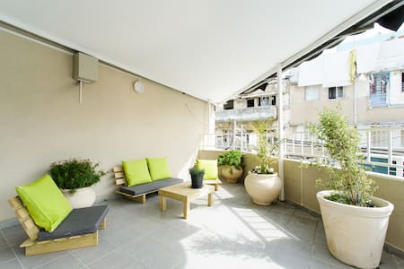 Our apartments are newly renovated. They are fully furnished with new kitchens and showers. There is a big balcony for the benefit of our guests, we are in the center of Tel Aviv! if we full, we have more app, check also app. no. 3 & 4 or contact us.