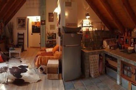 Mansarda in casa montana in pietra - Apartemen