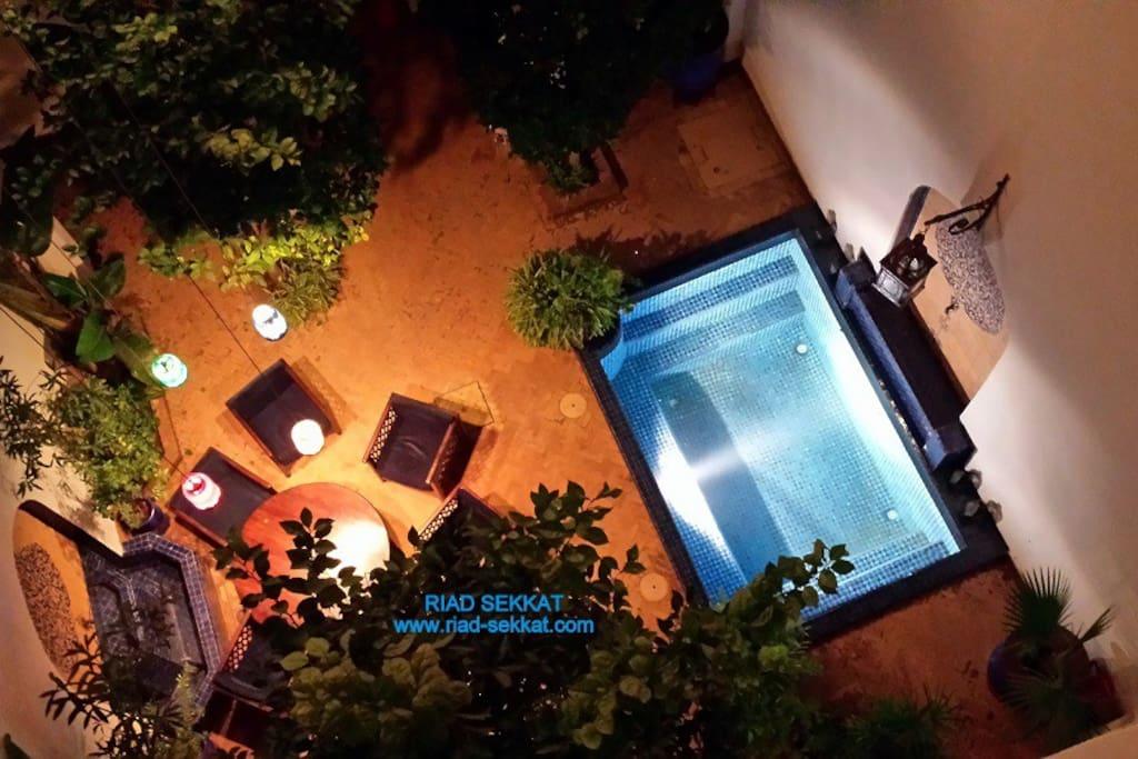 Le patio du Riad Sekkat