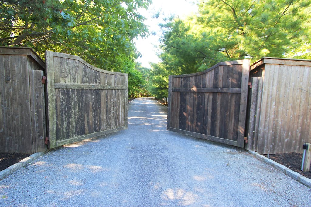 Extra long driveway for ultimate privacy.