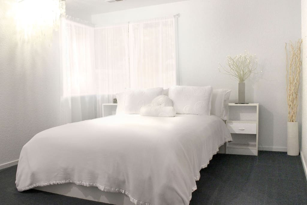 Your queen bed, super plush and comfy