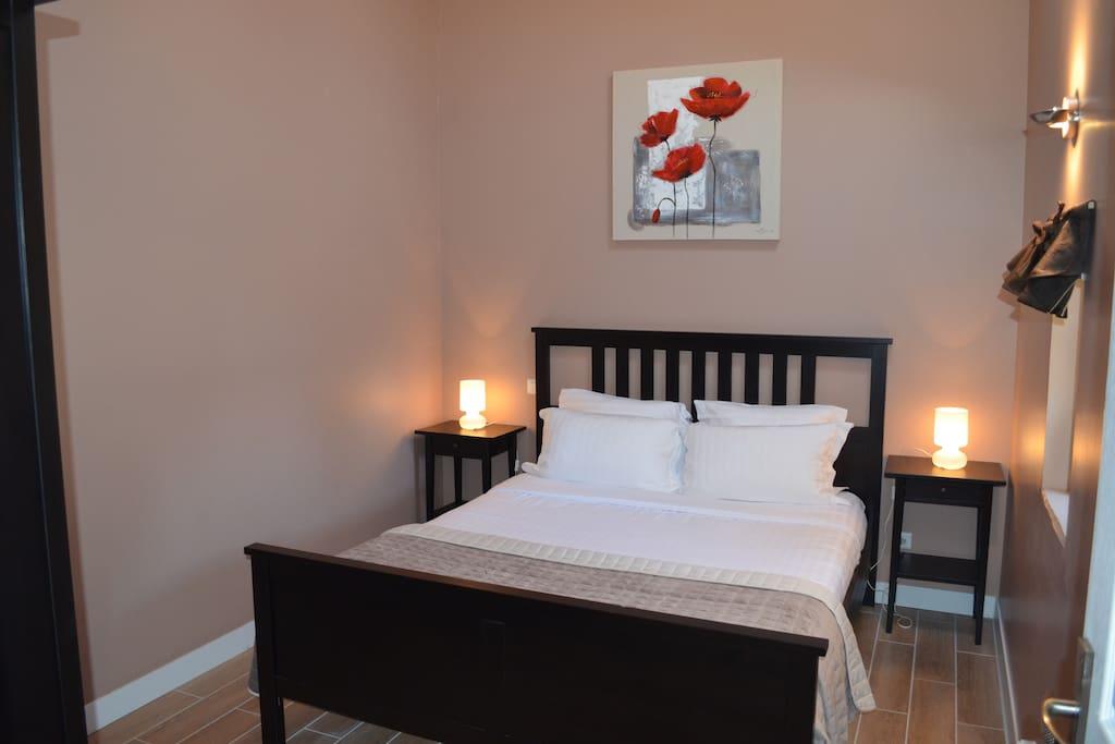 Chambre 1, lit 160x200