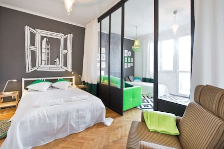 Just renovated, quiet apartment with balcony, located in the heart of Gdansk. Near main train and bus stations and just minutes away from Old Town. Nearby is a shopping mall, cinema, bakeries and cafes. Free parking available in the courtyard