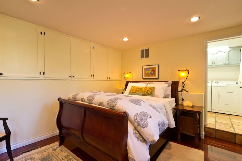 Bedroom with your private laundry room plus closet