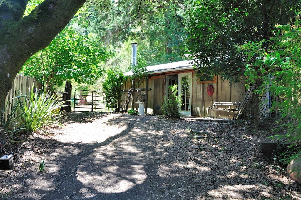 Short walk to the music studio and another large picnic/relaxation area with deck and stream bed.  All adjacent to open space.