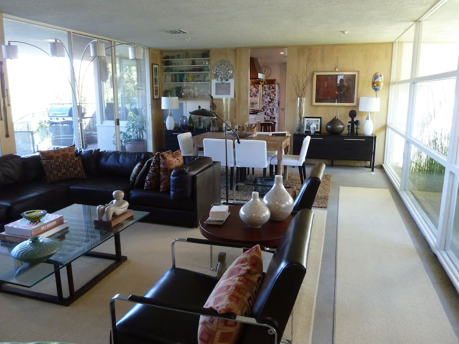 Living Room showing Dining Area at Rear, and Patio (left)