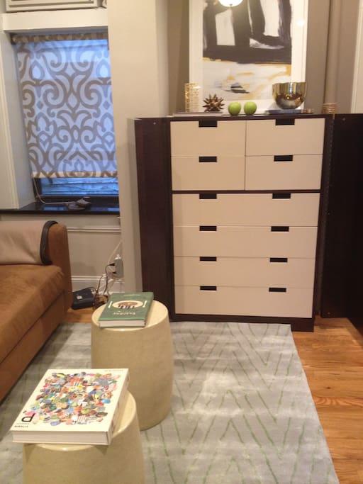 High end furnishings in bedroom
