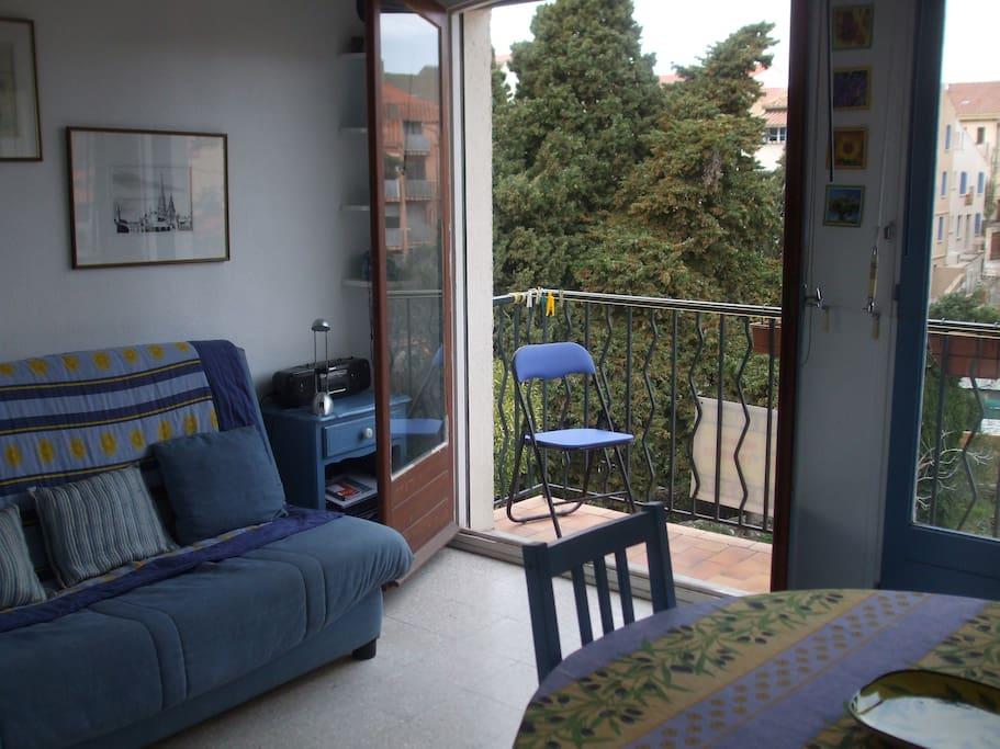 double doors onto balcony
