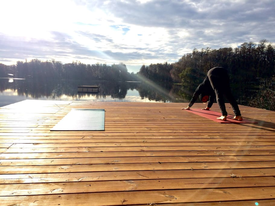 Join us for yoga on the deck.
