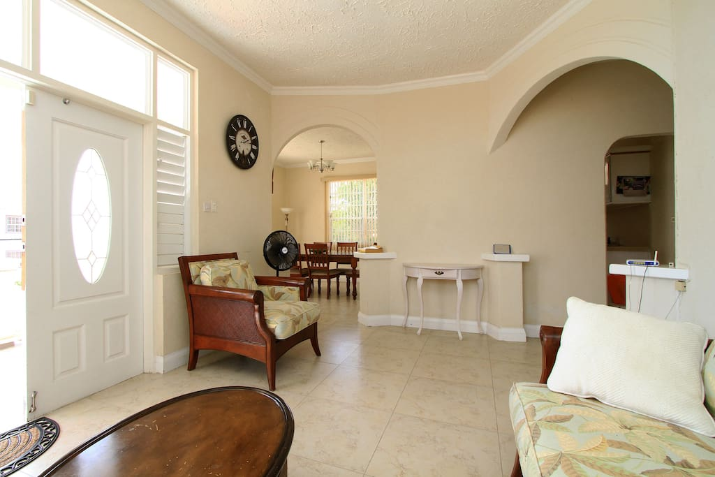 View of dining room from living room.