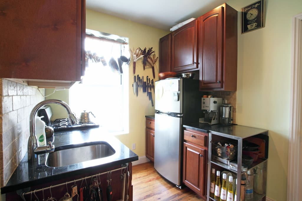 Gorgeous kitchen with dishwasher and everything you could possibly need to cook an amazing meal with whatever you bought from the farmer's market!