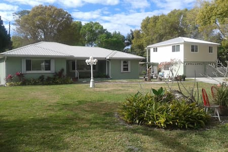 Our home sits on 1 acre of property  conveniently located across from 3 BEAUTIFUL county parks. We are 3 miles from Pinellas County Gulf Beaches.  Lived and worked out of our home for over 40 years and would be able to facilitate your travels.