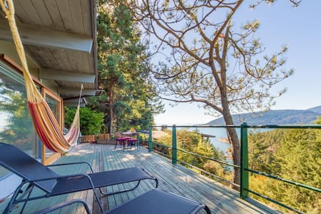 Secluded West Coast 2BR w/ views + fireplace - Rumah