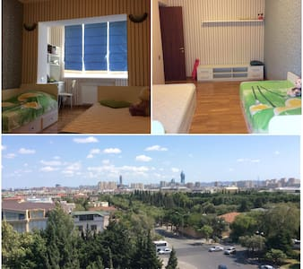 Private (only female) room in city view apartment - Leilighet