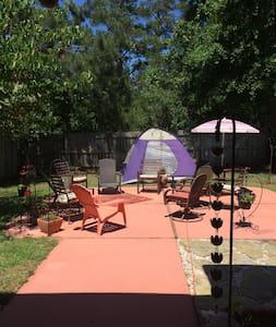 Cool backyard tent under the stars - Zelt
