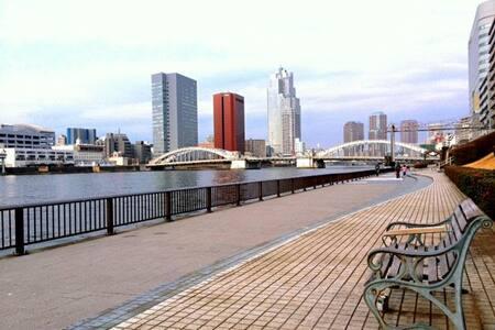 【女性限定】銀座・築地徒歩圏!東京駅も六本木も乗り換えなしの好立地! - Apartment