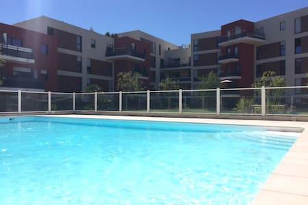 Spacieux 3/4P dominant + terrasse - La Roquette-sur-Siagne - Apartment