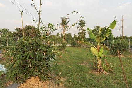 一日農莊主人與綠油油稻田為鄰置身果園之中體驗農人悠閒生活!附烹煮設備。 - Hütte