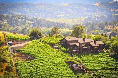 Stay at a Stunning views with Vineyard and Winery - Moraga - Hus