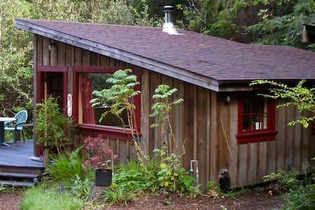 Big River Ridge Cottage, private, cozy in Redwoods - Mendocino - Zomerhuis/Cottage