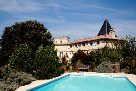 Chateau Lameraux & Pool, hour to Bordeaux/Bergerac - Château