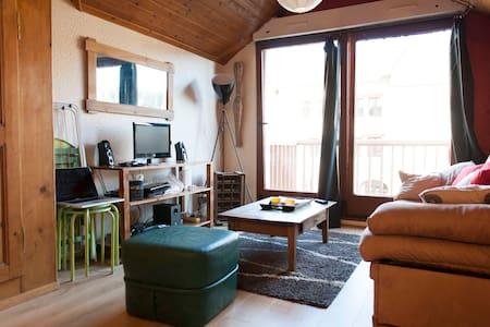Joli T2 - plein centre _ Nice appt! - Les Rousses - Apartment