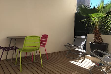 Central flat and huge sunny terrace - Nice - Appartement
