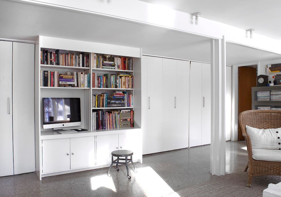 We provide books, a computer for streaming TV and movies, and plenty of space to spread out!