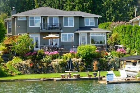 5-bed Lakefront near Tacoma Seattle - Ház