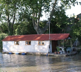 Houseboat  with terrace on canal - Argens-Minervois