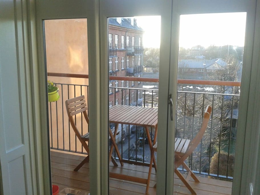 The new balcony - morning and mid day sun :-)