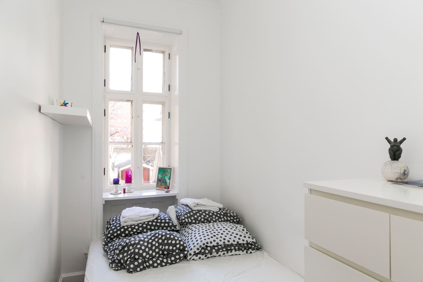 Your bed room, facing the court yard