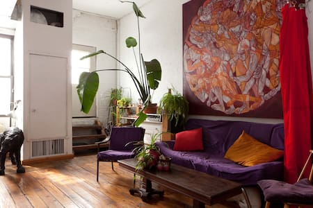 NYC artists' loft with roof deck