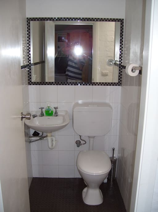 Ensuite Bathroom. Shower, Toilet, Basin.