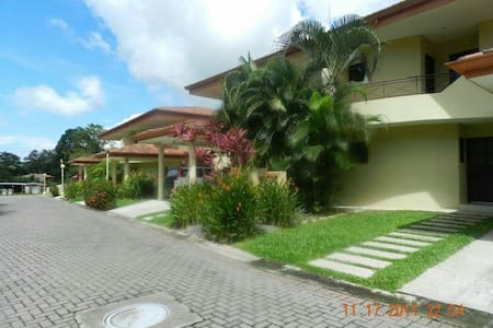 Close to the beach one hour drives from San jose, quiet, 24 hrs security guard,own jacuzzie, laundry room, near the rainforest. Air condition, nice kitchen, near restaurants delicious food. The price change depend the season $225.00 from November to April  $189.00 from may to october