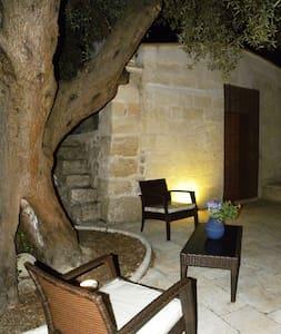 Lamia in pietra nella campagna - Villa Castelli
