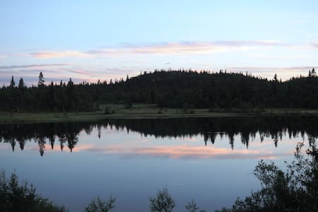 So peaceful by the lake. Log cabin with annexe. - Sør-Aurdal - Chatka