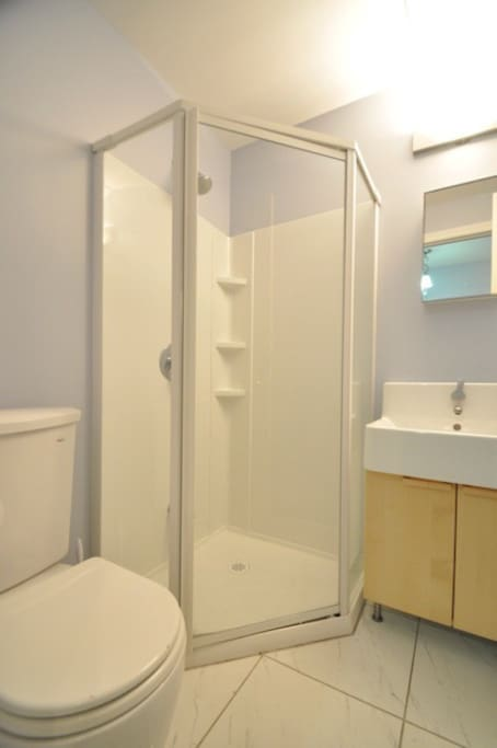 Bathroom with standing shower