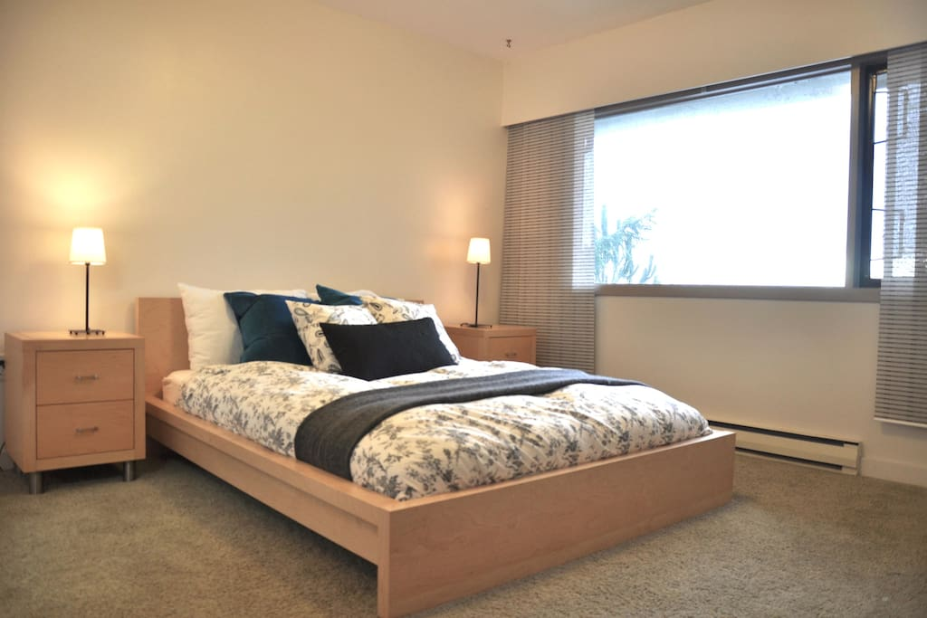Bedroom features a comfortable queen sized bed.   There is an ensuite four piece bathroom, accessed directly from the bedroom